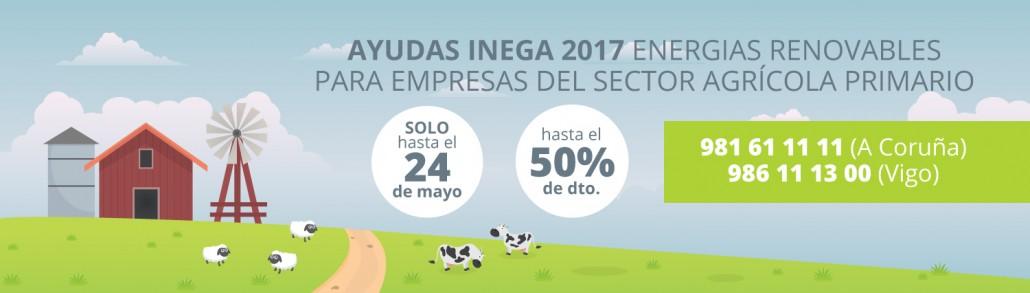 Subvenciones de energías renovables para el sector agrario 2017