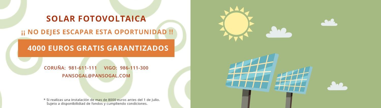 Subvenciones para energía fotovoltaica en Galicia de 2019