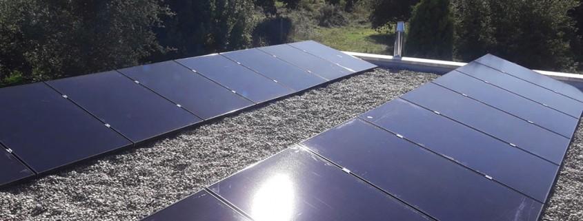Instalación solar de autoconsumo en vivienda unifamiliar en Vigo - Pansogal