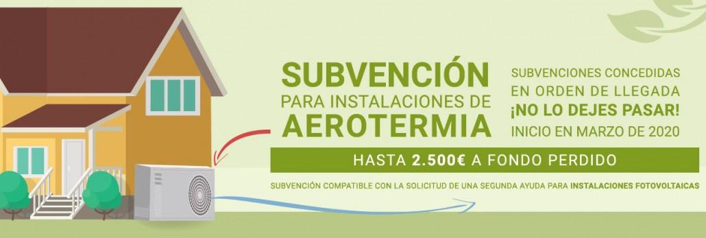 Últimas subvenciones de Aerotermia - INEGA 2020 para Galicia