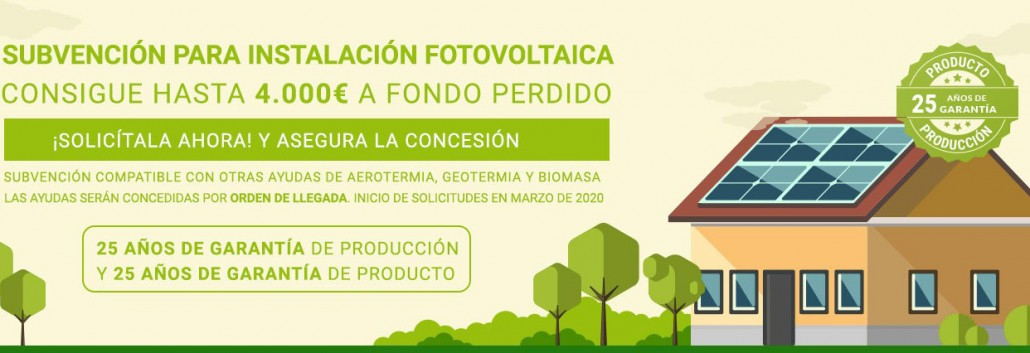 Subvenciones para aerotermia, geotermia y solar en Galicia 2020